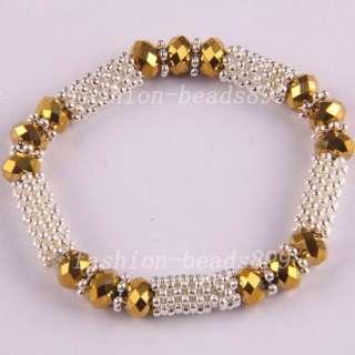 Fashion Swarovski Crystal Beads 18KGP Necklace Bracelet Earrings