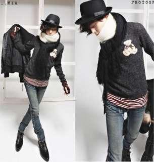 2011 New Men Korean Slim Fit Fashion Double zipper Jeans Blue 2539