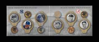2004 UD YANKEES 6 BAT BABE RUTH/GEHRIG/MANTLE/DIMAGGIO/BERRA/MATTINGLY
