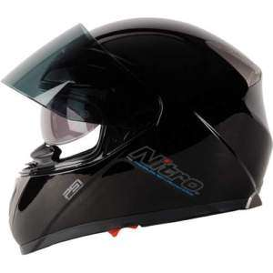 NITRO PSI PUMP FIT MOTORCYCLE SCOOTER HELMET BLACK XL