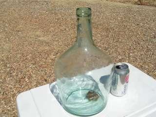 OLD Demijohn Hand Blown Glass Italian Wine Bottle JUG 2096
