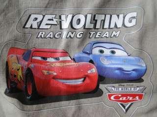 Disney Pixar Cars Tan Print & Patch Cargo Style Shorts NEW Sizes3,4,5