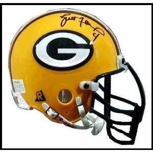 Brett Favre Autographed/Hand Signed Mini Helmet Sports