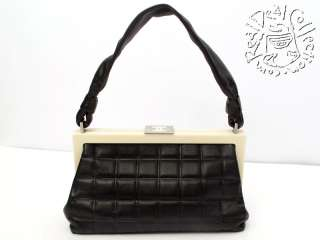 Chanel Black Cube Quilt Classic Frame Bag