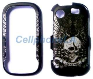 Samsung Messenger Touch R630 Luck Skull Hard Case Cover