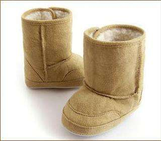 Infant boys girls toddler baby shoes fur winter boots