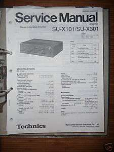 Service Manual Technics SU X101/X301 Amplifier,ORIGINAL