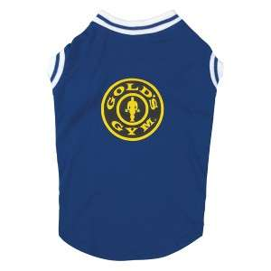 Golds Gym Stretch Tank Top Shirt Dog Apparel LG Red