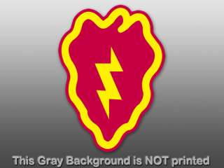 Army 25th Infantry Division Sticker   decal logo 25 ssi