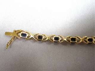 18K Gold, Blue Sapphire & Diamond Tennis Bracelet