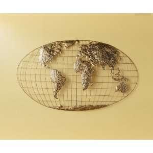 Southern Enterprises Iron World Map Wall Art GA1152R