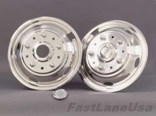 Wheel Insert Cover Hubcap SS 19.5 10 Lug Bolt On 5Hole