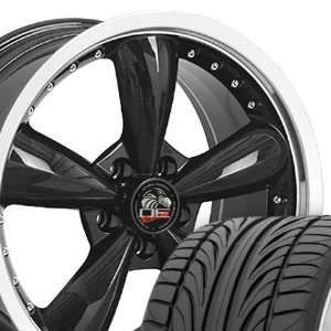 Bullitt Style Deep Dish Wheels and Tires with Rivets and Machined Lip