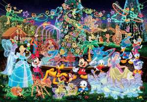 Japan Jigsaw Puzzle Tenyo Disney Mickey Night D 500 391