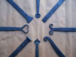 Blacksmith Forged (30 inch) Wrought Iron Strap Hinges