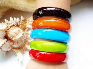 WHOLESALE 5PCS Mix Colors Lampwork Glass Bracelets FREE