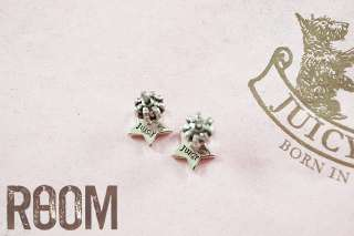 Juicy Couture pave Star Stud Earrings SILVER
