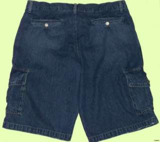 NEW MENS LEVIS DISTRESSED DENIM CARGO SHORTS SIZE 32 Retail $49