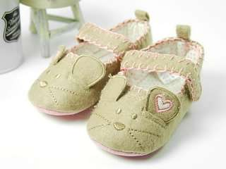 A52 new toddler baby girl boy cute mouse shoes UK 2