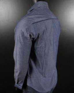 NEW JOHN LENNON English Laundry Shirt MIMI in Light Navy Blue JLW1384
