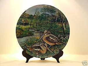 The Woodcock Edwin Knowles Collector Plate 1987