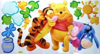 Cute Disney Winnie the Pooh bear & Friends Cartoon funny Wall Stickers