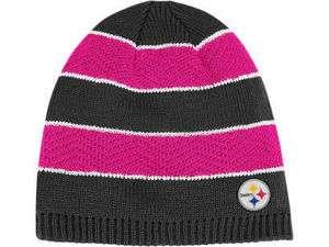 Steelers Breast Cancer Awareness Womens Knit Beanie Hat OSFM |
