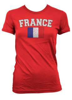France Country Flag Wrld Cup Soccer Futbol Girls Womens