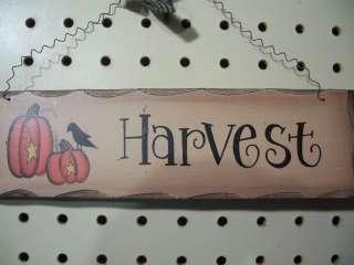 Country Primitive Thanksgiving Pumpkin Fall Autumn Door Sign