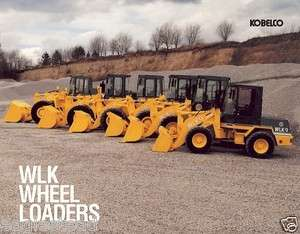 Equipment Brochure   Kobelco   WLK 9 15 20 25 35 45   Wheel Loaders