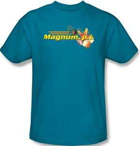SIZES Magnum P.I. PI Hawaii Logo Title TV Show T shirt top