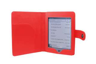 PU Smooth Leather Folio Case Cover for  Kindle TOUCH 6 Tablet
