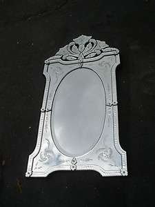 48954 Venetian Multi Glass Etched Decorator Mirror