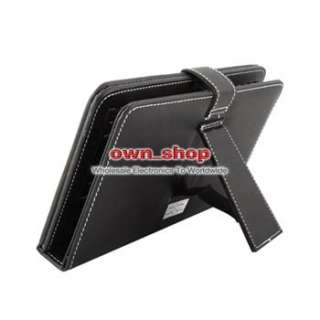Black New Protective Leather Case Stand USB Keyboard For 7 7 inch