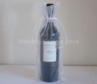 12 white Organza Bags   Bottle/Wine bags,Gift bag 6x14