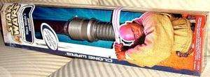 CLONE WARS MACE WINDU LIGHTSABER ELECTRONIC RARE