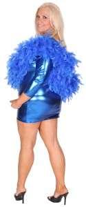 Lady Gaga costume Solid Foil Mini Dress One Sleeve