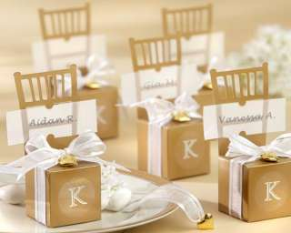 24 Golden Chairs 50th Anniversary Wedding Favor Boxes