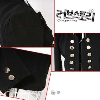 New Korean Women Long Sleeve Double breasted Suit Slim Jacket Coat