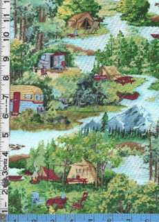 Fabric Wilmington HOME AWAY CAMPING RVs tent SCENIC