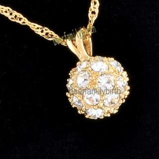 18K yellow gold GP SWAROVSKI Crystal necklace 539