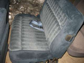 CHEVY TRUCK SUBURBAN SEATS DOUBLE BENCH CLOTH BLUE