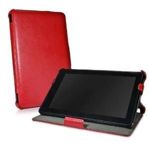 BoxWave Ardent Red Leather Kindle Fire Book Jacket   Slim