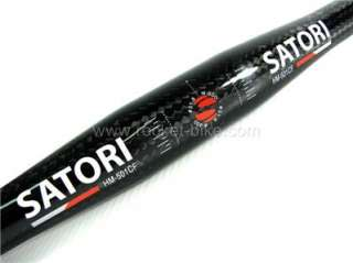 Satori~Bike~Carbon~Fiber~Flat~Handlebar~31.8~600mm~MTB~