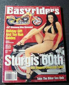 EASYRIDERS Magazine December 2000   STURGIS 60TH