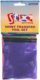 Shiny Transfer Foil Set 10 Sheets Pastel Colours