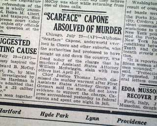 Early 1926 AL CAPONE Gangster War Chicago OLD Newspaper
