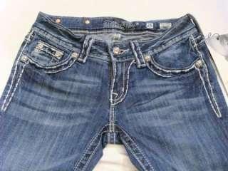 NWT MISS ME Foxy Fur   Pick Stitch Crystals Boot Jeans