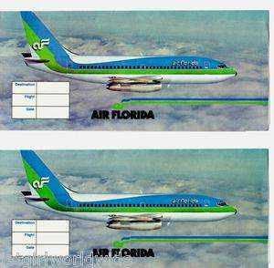 FLORIDA Airline Ticket Jackets Duo  1981  Boeing 737 & Logo   USA
