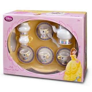 Belle Magical Tea Cart Play Set Disney Beauty & the Beast Dishes Mrs